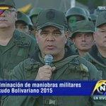 [AHORA] @vladimirpadrino asegura que de manera exitosa culminan maniobras militares Escudo Bolivariano 2015 http://t.co/3L4M3NijL1