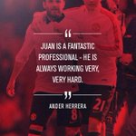.@AnderHerrera feels @JuanMata8 is a worthy winner of #mufcs Player of the Month award for March... http://t.co/4qZZ7GBW9R