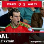 GOAL! @GarethBale11 makes it 3 with his second of the night. 0-3 #ISRvWAL #TogetherStronger http://t.co/VqHLVNlp7T