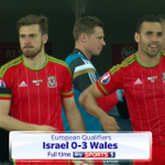FT: Israel 0 - 3 Wales. Wales go to top of the table Israel and win 3-0. Two goals for Bale, one for Ramsey! #ISRvWAL http://t.co/tHA6rQnMfo