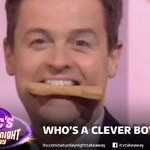 Now we know how to get @antanddec to do what you want… BISCUITS! Thanks @clarebalding! #SaturdayNightTakeaway http://t.co/4iph3g2gAe