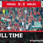 Travelling support incredible once again. Singing throughout. Thank you all. #TogetherStronger #ISRvWAL http://t.co/SZ42JU3luZ