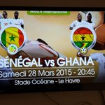 @ghanafaofficial ready to take on Senegal in their first game since #afcon2015final. Few #BlackStars fans in Le Havre http://t.co/nPPKHkiHmx
