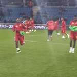 1 @ghanafaofficial get the game underway. #BlackStars in decked out in all red. Jordan in for Gyan http://t.co/GduQrOghdz