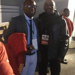 Ex @ghanafaofficial ace Kwame Ayew in his 1st assignment as #BlackStars mgt member with GFA boss Nyantakyi. http://t.co/qxXiYcnMTj