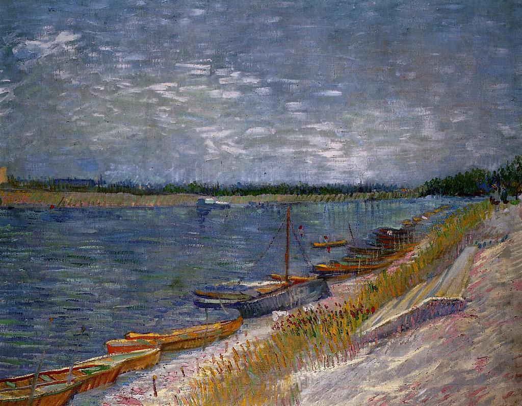 Moored Boats Vincent van Gogh (1887) #dailyart http://t.co/861fX24bSo