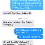Texting with my mum in Australia about being @DebbyRyans +1 at the KCAs. #personnothingtodowithkidschoice http://t.co/Pru9pnuUsz