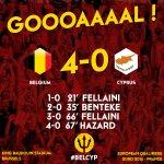 Goal!! 4-0 Hazard #belcyp http://t.co/H4gBocE1gF