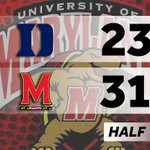 The Maryland women lead Duke 31-23 at the half! http://t.co/9ME4RXMOUH