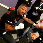 Kell Brook getting his tools ready for work! Fight Night live on Sky Sports 1 now with the main event around 10.15pm! http://t.co/rUySAKErqO