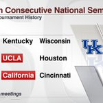Kentucky will square off against Wisconsin in the Final Four for the 2nd year in a row http://t.co/kNuhW4A1MT