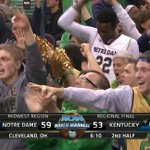 Notre Dame fans can smell an upset! Tune into TBS to see if Kentucky goes down! #Elite8 #MarchMadness http://t.co/IyQvO3U23Z