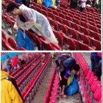 """左は間違いなく日本人だけど左はそうじゃないかもねw """"@byokan: 【悲報】左:ワールドカップでゴミを拾う日本人 右:花見でゴミを残す日本人 同じ日本人です。 http://t.co/pTpJgZl6fd #Japan http://t.co/mYbSX69pPP"""""""