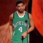 Drake had his jersey ready like ????????????????????????#UKvsND #NDvsUK http://t.co/E4z1l061Wm