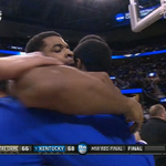 Kentucky narrowly escapes Notre Dame 68-66, advances to #FinalFour and will face Wisconsin http://t.co/ZALu1OMsDi