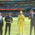 That means both sides are unchanged and #NZ will BAT first. All LIVE here - http://t.co/XJXIEFcEPg #AUSvNZ #cwc15 http://t.co/ijziAZWWWB