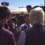 Calum and Michael at the Orange Carpet right now at the KCAs! -M #Vote5SOS #KCA http://t.co/XHCXdQpkPQ