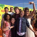 Whats orange, slimey, and cute all over?! The #HenryDanger cast at the #KCAs! Photobombed! KCA2015 #OrangeCarpet http://t.co/4NrY60vHjp