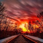 Smoldering tracks in the #ROC  sunset. Shared by @robbie_diezel #ThisIsROC #ROC http://t.co/OHjX1eGHcj