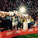 El trofeo ya es de @cdudeconce. Felicidades a los jugadores, dirigentes e hinchas del club de la Octava Región. http://t.co/AKwFQ7bs1H