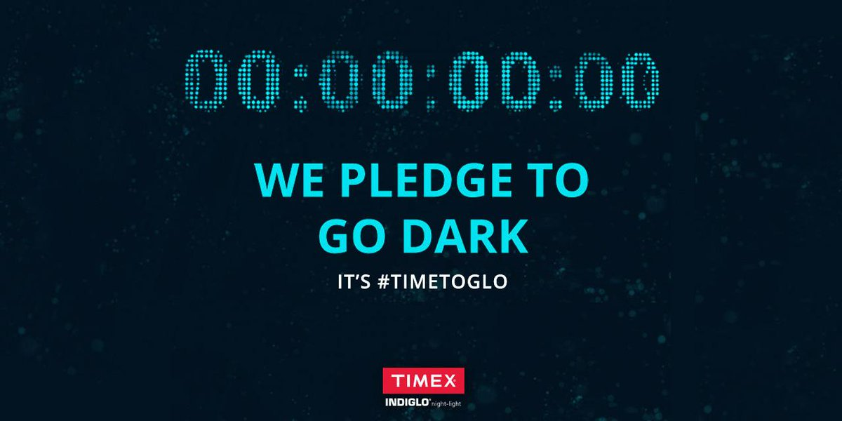We pledge to go dark. The countdown to @earthhour at our headquarters in Middlebury, CT is over #TimetoGLO #EarthHour http://t.co/VMwOItbYAa