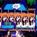 WOOO!! @FifthHarmony just won #FavoriteNewArtist! ???? #KCA #Harmonizers http://t.co/dxpf2bq08a
