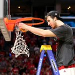 For 2nd consecutive year, and 4th time in school history, Wisconsin cuts down the nets and advances to Final Four. http://t.co/TThA9g3VYl