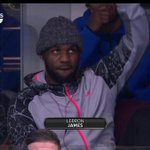 LeBron James is at the Kentucky-Notre Dame game in Cleveland. Hey, LeBron! http://t.co/hdNMjv1g5h http://t.co/VH9NSnwZnV