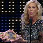 """Thats a good looking belt ... THATs a Womens WRESTLING belt!"" - @Madusa_Rocks #WWEHOF http://t.co/q6KU6Uwika"