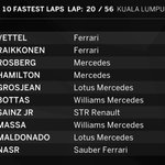FASTEST LAPS: Vettel has just gone quickest on his new tyres #MalaysiaGP #F1inMalaysia http://t.co/DnYUco2ddQ