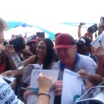When we say meet the fans... we mean it! @nico_rosberg & @LewisHamilton right in the mix! :) #F1inMalaysia #F1 http://t.co/kmpkKPFG3s