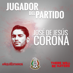 ¡Con su voto eligieron a @jesuscorona01 como El Jugador del Partido! ¡Gracias por participar! #AquíEstamos http://t.co/W1Yo5P7FyM