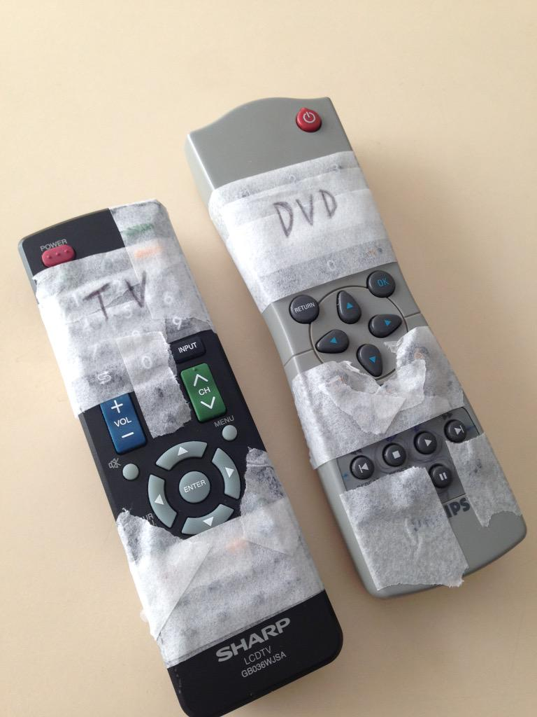 """@samwe11er: Always look to improve User Experience, in this case Grandma's remote controls #UX http://t.co/CdSNR1Qf5K"" I kinda love this!"