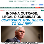 Now leading HuffPost — INDIANA OUTRAGE: LEGAL DISCRIMINATION http://t.co/GdcJ2EStSW http://t.co/4tGcrw2UYO