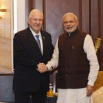 Meeting of the PM Shri @narendramodi and the President of Israel, Mr Reuven Rivlin http://t.co/C8eSgIGFFq