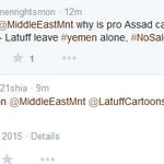 another pro Assad troll tells me anti Saleh activist his love for #Syrias saleh & hes against Saudi bombing #yemen http://t.co/esjcBlT3Ny