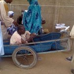 Many heartwarming pictures from Maiduguri. This old man was sick but insisted on coming out to vote. #Nigeriadecides http://t.co/00RfUMxMwe