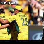 #CWC15 Final #AUSvNZ at Melbourne #NZ 183 all out (45.0 ov) #AUS needs 184 runs to win #lka #CWCFinal http://t.co/n9W3KjxQ7b