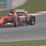 Early puncture for Kimi Raikkonen as his bad luck continues. Maldonado also has a puncture #MalaysiaGP http://t.co/YjCbiNkdOB