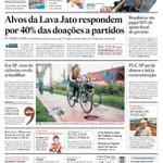 #CapaDeHoje Alvos da Lava Jato bancam 40% das doações privadas a PT, PMDB e PSDB http://t.co/2P95hb4Vsp http://t.co/DmHa7qibuP