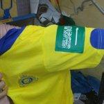 بدأ نادي النصر بإضافة العلم السعودي على ملابس لاعبي فريق كرة القدم #عاصفة_الحزم #النصر http://t.co/4vIp5dUSkC