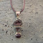 Geode necklace pendant Sterling Silver Druzy Geode by JabberDuck http://t.co/YKwNTnJr3f http://t.co/vzKO0BbF2N
