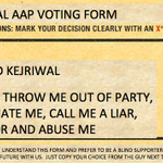 Of course AAP has internal democracy. Managed to get a copy of the AAP internal voting form: http://t.co/fnqBsBMRbs