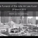 End of National Anthem marks the end of the State funeral Service for #LeeKuanYew. http://t.co/l0Tetcpxav
