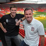 Match Day! All Star Charity Match. Anfield. Gerrard vs Carra. 3pm BST. Going to be a special occasion! #LFC #YNWA http://t.co/FCuetMsb7W