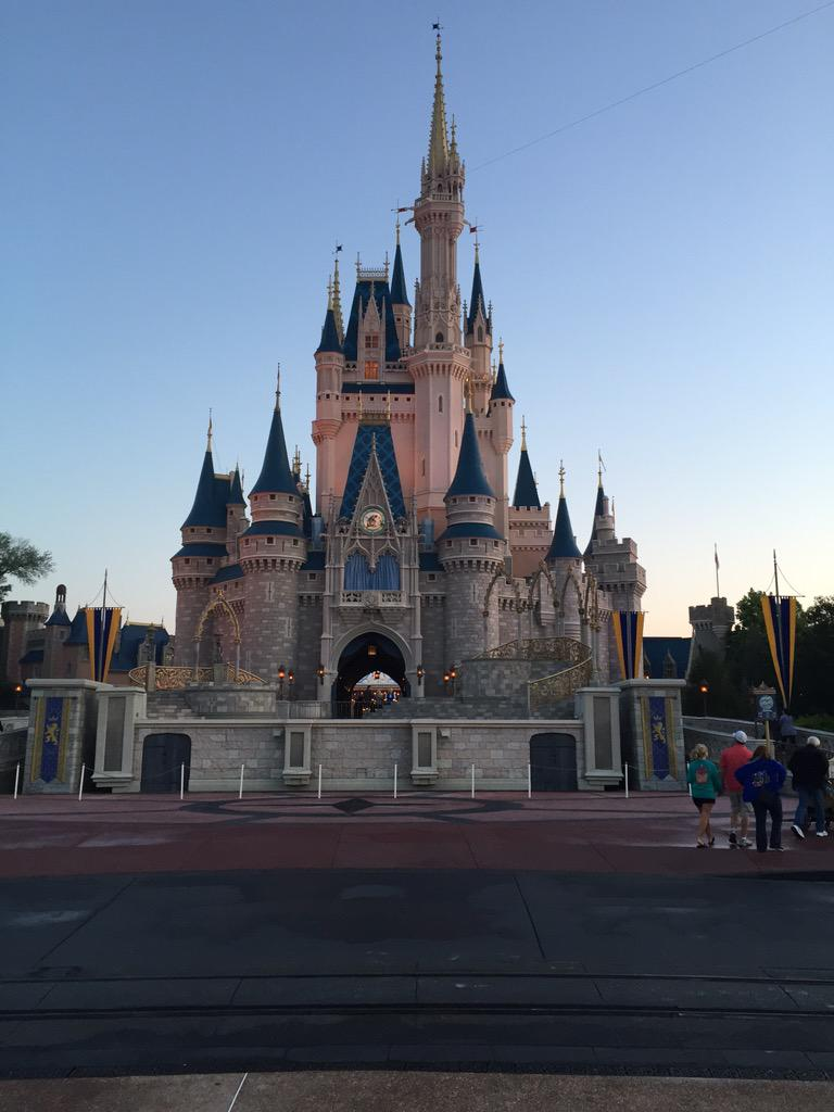 Cinderella castle at park opening http://t.co/iNI3ZNkaPt