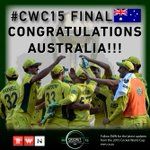 BREAKING NEWS: Australia win #CWC15Final #CWC15, beating New Zealand by 7 wickets. http://t.co/deifqmDffM http://t.co/zjzFu1oLHL