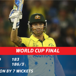 #CWC15 - RESULT: #AUS ARE WORLD CHAMPS after Michael Clarke led his team to a big victory over #NZ. #SSCricket http://t.co/ZdAMw2QPhn