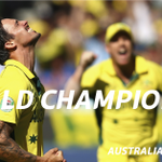 WORLD CHAMPIONS! Australia win the #CWC15 after a convincing 7-wicket victory over New Zealand. #SSCricket #AUSvNZ http://t.co/SXWMyl9pGo