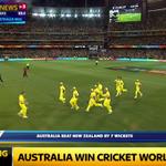 BREAKING: Australia beat New Zealand by seven wickets in the Cricket World Cup final. #SSNHQ http://t.co/zmMPzWOahN